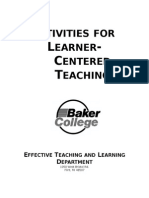 Activities for Learner-Centered Teaching