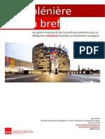 Briefing de plénière - novembre I 2014