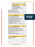 Fire Emergency Checklist
