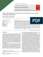 Computer Communications Volume 33 Issue 17 2010 [Doi 10.1016_j.comcom.2010.07.014] Soroush Akhlaghi; Alireza Borhani -- Fairness Maximization and Delay Analysis for Multi-Antenna Broadcast Channels Using Random