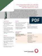 1-Port Channelized STM-1-E1 With IMA Input-Output I-O Module Brochure