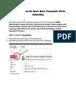 Cara Memasukan File Excel