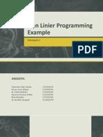 Contoh Penggunaan Non Linier Programming