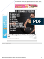 Beginner Bodyweight Rout...Otivation & Inspiration