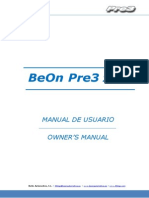 BeOn Pre3 Manual de usuario / Owner´s Manual