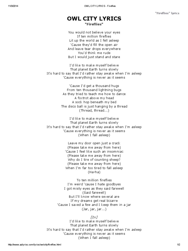 id like to make myself believe that planet earth turns slowly lyrics