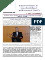 Boletín del Grupo Socialista del Cabildo de Tenerife 100. 3 - 9 de noviembre 2014