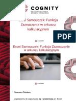 Excel Samouczek