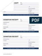 Donation Receipt - Cash Donation