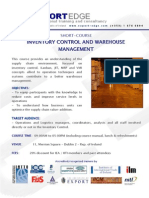 Inventory Control and Warehouse Management