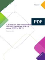 ANSM Rapport Consommation Antibio 2013
