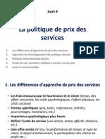 Sujet Ix-l'Etablissement de Prix Des Services
