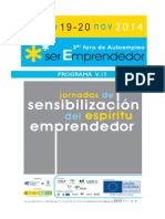 Programa de Jornadas Foro Ser EmprendedorV.17