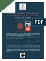 Rapport - Les homicides à Paris et petite couronne