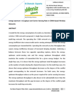 Energy Optimum Throughput and Carrier Sensing Rate in CSMA-based Wireless Networks