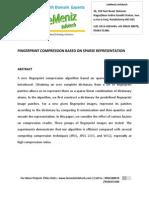 Fingerprint Compression Based on Sparse Representation