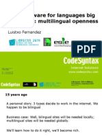 Free software for languages big and small