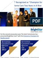 "BrightStar Care® Recognized as ""Champion for Quality"" in Home Care Two Years in A Row"
