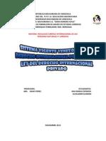 Sistema Vigente Del d i p y Ley Derecho Intern Privado