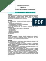 Codigo Alimentario Argentino-Arts 60 a 106
