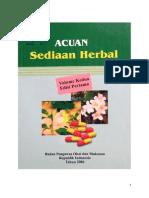 Acuan Sediaan Herbal-Volume 2 Edisi Pertama