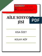 AİLE SOSYOLOJİSİ