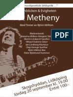 Metheny Affisch