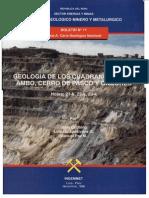 Geología - Cuadrangulo de Ambo Cerro de Pasco y Ondores