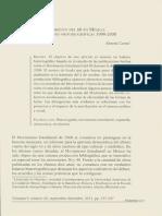 El Movimiento Del 68 en México_Interpretaciones Historiográficas 1998-2008