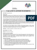 Vacancy announcement advert - Reserach Director.doc