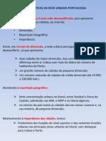 Características Da Rede Urbana Portuguesa - Síntese