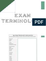 exam terms