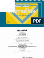 HomePak User Manual