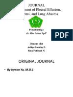 Management of Pleural Effusion, Empyema