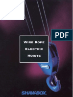 Shaw-Box Wire Rope Elec Hoists - H1016