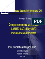 Comparacion Standard LRFD Puentes