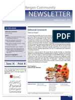 AOAC Food Allergen Community Newsletter 2014_Issue 3