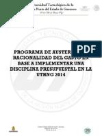 Plan de Austeridad 2014