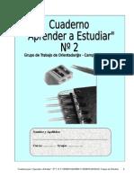 Técnicas de estudio Cuaderno Aprendo a Estudiar 2