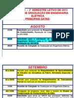 Calendário Semest 2013-2