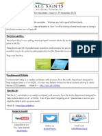 Maths Newsletter 8 -5th Nov 2014