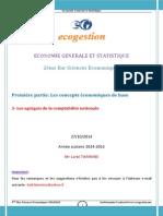 3- Les Agrégats de La Comptabilité Nationale 2014-2015