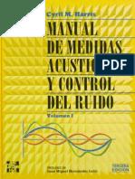 Manual Medidas Manual medidas acusticas y control del ruidoAcusticas y Control Del Ruido (M. Harris) 3ª Ed