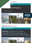 What is International Finance