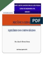 Unidade I - Aula 2 - Equilíbrio dos Corpos Rígidos.pdf