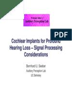 Signal Processing - hearing loss