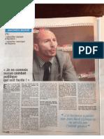 Interview de Mathieu Bergé à La Semaine du Pays basque-Novembre 2014