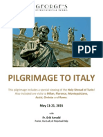 Pilgrimage to Italy May 11-21, 2015