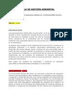 Modelo de Gestión Ambiental Octavo
