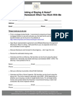 Buyers Homework Checklist